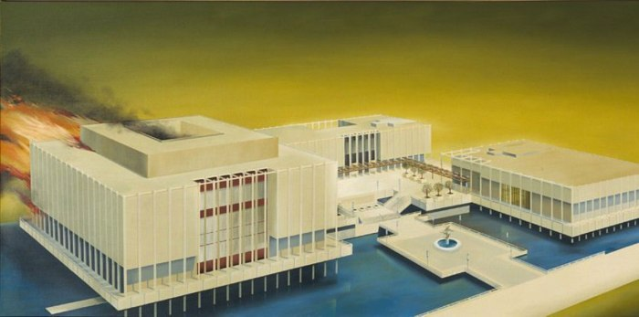 The original LACMA was not exactly popular. Ed Ruscha's 1968 vision of the museum.